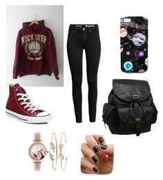 """Untitled #1"" by radioactivenovas on Polyvore featuring AmeriLeather, Nikki Strange, INC International Concepts, Converse and SoGloss"