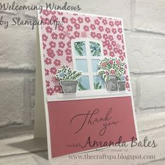 The Craft Spa - Stampin' Up! UK independent demonstrator - Order Stampin Up in UK: The World outside Welcoming Window #10 Welcome, Stampin Up, The Outsiders, Spa, Bloom, Windows, World, Paper, Card Ideas