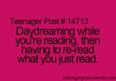 Teenager Posts. Especially when I don't like the book.