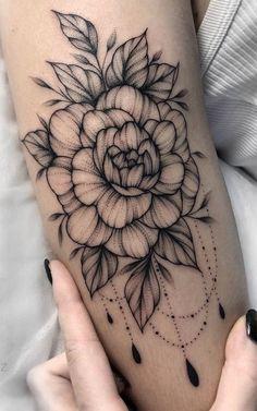 300 Sexy Tattoo Designs - Original by Tattooists Dream Tattoos, Mini Tattoos, Sexy Tattoos, Flower Tattoos, Body Art Tattoos, Tatoos, Skull Rose Tattoos, Feminine Tattoos, Piercing Tattoo
