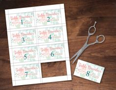 Wedding Table Numbers 1-24 | INSTANT Download