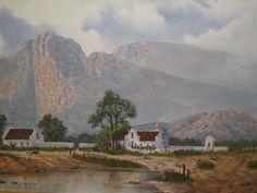 South African painter Art Paintings, Landscape Paintings, Africa Painting, Cape Dutch, Artistic Tile, South African Artists, Cool Landscapes, Gabriel, Cool Art