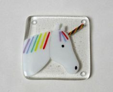 Hey, I found this really awesome Etsy listing at https://www.etsy.com/uk/listing/504519664/unicorn-coaster-fused-glass-coaster