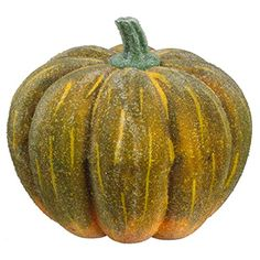 4.5'Hx6.5'W Artificial Beaded Pumpkin -Green/Yellow (pack of 6) * You can find out more details at the link of the image.