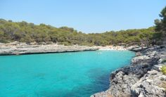 Cala d'en Borgit is a small bay on the south east coast of Mallorca just around the corner from Cala Mondrago, within the protected Mondrago Natural Park..