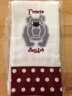 Mississippi State bulldog burp cloth by StitchinAroundMS on Etsy