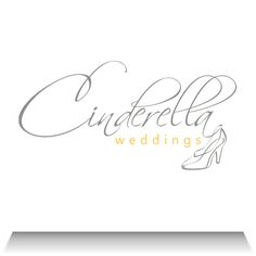 """Cinderella Weddings:   Based in Pretoria, Cinderella Weddings is one-stop wedding services company - from exquisite designer wedding gowns to flowers, exclusive cakes and hair and make-up. The fairy tale glass shoe logo portrays the company's """"dream day - magical experience"""" promise."""