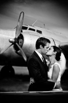 vintage aviation vibe + wedding