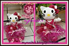 Centros de Mesa Infantiles, Fiesta Kitty myruchis.blogspot.com