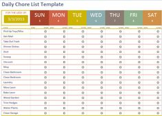 Use this template to customize and print a Kids' Chore Schedule ...