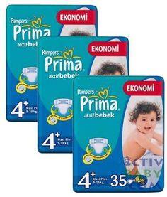 Prima Bebek Bezi No 4  9 -20Kg Maxi Plus 3x35 Adet 3 lü Fırsat Paket