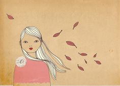 Autumn Mate Edition Print of original drawing by IrenaSophia, $15.00