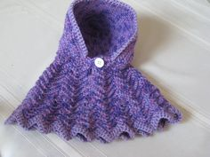 Baby Poncho Crochet Purple and Pink With Hood by susanstreasures, $28.00