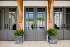 The gray on these French doors, Benjamin Moore Chelsea Gray,
