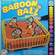 Baboon Ball game 1981 Hasbro (little sis had this? .s)