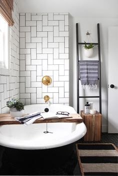 perfect tiling in the bathroom