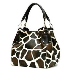 FASH Giraffe Print Faux Leather Tote Handbag-women Hand Bag,casual Bag,girls College Bag,shopping Bag Price:$15.99