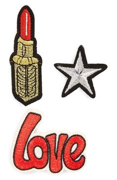 BP. Embroidered Patch Pins (Set of 3) available at #Nordstrom