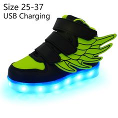 2559ef934d876d 2016 Fashion New USB Charging Led Children Shoes With Light Up Kids Casual  Boys Girls Luminous Sneakers Glowing Shoe Hook Loop