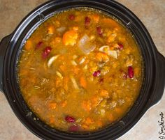 Nightshade Free Miracle Chili - I Say Nomato Nightshade Free Food Blog slow cooker crockpot crock pot beans sweet potato spicy hot…
