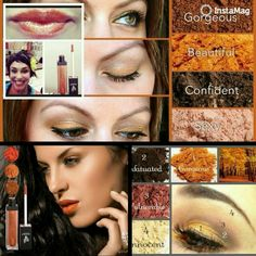 These Younique colours are stunning. Great for Autumn but can be used all year round! #lipgloss #pigments #Younique