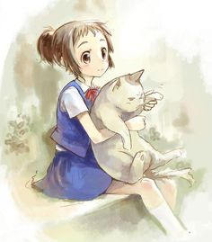 The Cat Returns studio ghibli Art Studio Ghibli, Studio Ghibli Movie List, Studio Ghibli Films, Cat Anime, Manga Anime, Anime Art, Totoro, The Cat Returns, Couples Anime