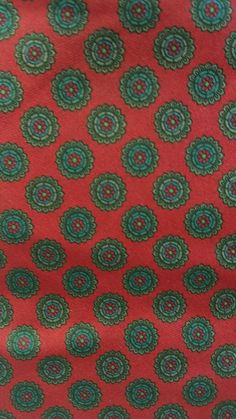 Claybrooke Silk Tie Dark Red Geometric Octagon Design EUC #Claybrooke #NeckTie