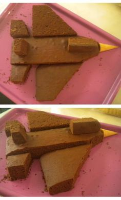 """I'm leaving on a jet plane…"" – can't get this tune (Aerosmith) out of my head now..LOL :D I planned on doing a big flat rocket ship cake for my son's birt…"