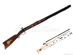 Traditions™ - Mountain - Black Powder Rifle - - Parts Kit Flintlock Rifle, Black Powder Guns, Hobby Kits, Mountain Man, Knife Making, Percussion, Tactical Gear, Firearms, Hand Guns