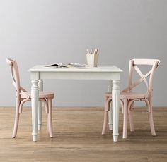 French Empire Square Play Table French table makeover for girls playroom Paint Kids Table, Kids Play Table, Toddler Table And Chairs, Table And Chair Sets, Baby Table, Pink Table, Playroom Table, Playroom Decor, Ikea Table