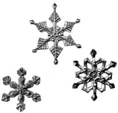 Christmas Decorations Snowflakes in silver by EarthlyCreature, $30.00