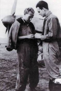 WWII Hungarian aces: Lt. Gyorgy Debrody, (203 missions, 25 individual victories and 1 shared) and Cap. Pal Iranyi (6 individual victories and 1 shared).