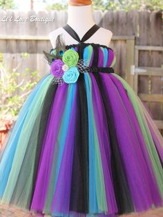 Peacock Tutu Dress by LilLoveBoutique on Etsy, $75.00