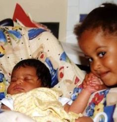 President Barack Obama's babies - Sasha & Malia
