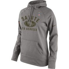 San Francisco 49ers Nike Women's Salute to Service Pullover Hoodie - Gray - $74.99