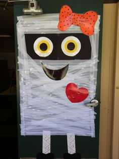 "Halloween door. 2013 ""I love my mummy!"""