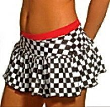 Black & White Checkered Winners Flag Print UV Glow Cap Sleeve ...