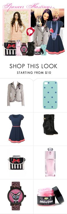 """Spencer Hastings' Inspired Fashion"" by frism ❤ liked on Polyvore featuring Desigual, J.Crew, WalG, Givenchy, Lola Ramona, Christian Dior, Betsey Johnson, Hello Kitty, pll and spencer"