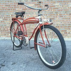 Good morning Instagram!!! Today it's time to let this reindeer free✨ It's my all original 1941 Firestone pilot  $500 plus shipping  If anyone is interested DM me for more pictures or you can look in my feed for other pictures... #1941 #firestone #pilot #vintage #bicycle #forsale #original #tankbike #timewarp