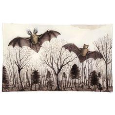 """John Derian Company Inc — Bats in the Trees 10 x 16"""" rect tray"""
