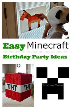 Easy Minecraft Birthday Party Ideas!