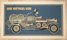 "Dave Matthews Band - silkscreen concert poster (click image for more detail) Artist: Methane Studios Venue: PNC Music Pavilion Location: Charlotte, NC Concert Date: 5/27/2016 Size: 24"" x 14"" Edition:"