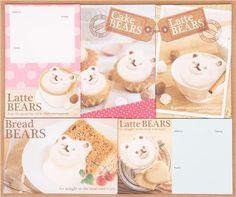 Latte Bear coffee bear letter set from Japan 1