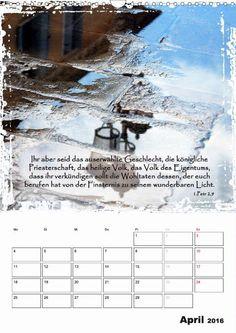 Kalender - Christliche Monatssprüche - April