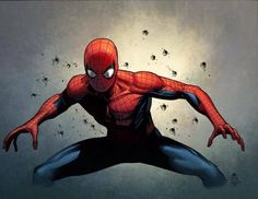 Spider-Man by Jim Cheung, colours by Justin Ponsor *