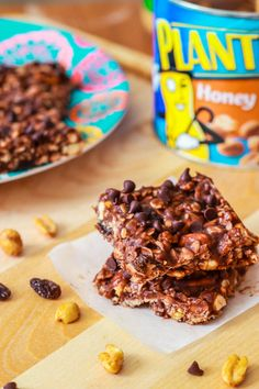 Healthy No Bake Chewy Fudge Granola Bars - I'm in love and already ate most of the pan!  *added cranberries and cocoa, too!
