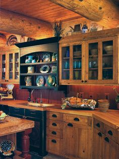 Lavish Rustic Home Design with Beautiful Interior Performance : Astonishing Kitchen Tile Backsplash Wooden Cupboards Lyden Residence