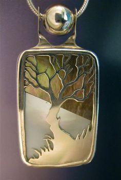 Sterling Silver Landscape Pendant by JewelrybyRC on Etsy, $235.00