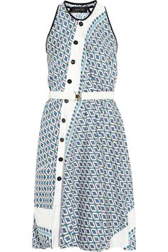 Derek Lam fluid silk dress works equally well loose or belted. I mean it's so perfect for spring!