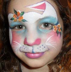 face painting for cute rabbit I think this the prettiest bunny I have seen!